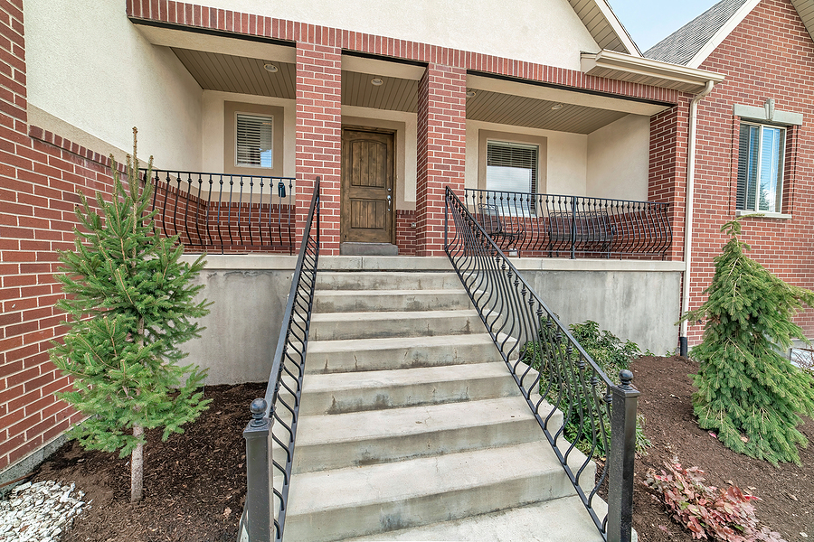 big house with staircase