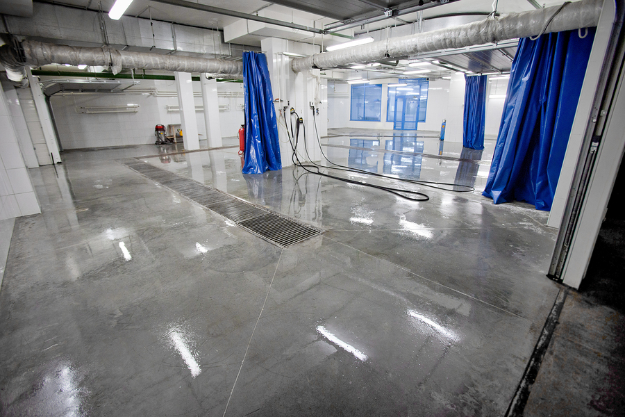 newly installed epoxy in the floor